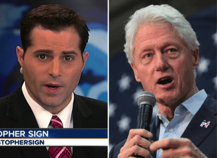 Christopher Sign and Bill Clinton