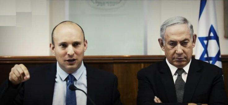 Naftali Bennett with Benjamin Netanyahu