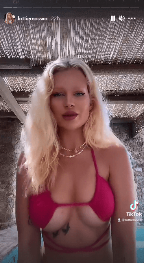 Lottie Moss Bikini Monokini Lingerie