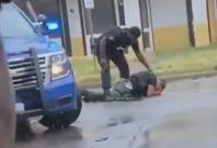 Officer sobbing