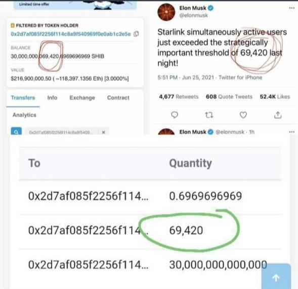 Elon Musk Own 40% Coins Shiba Inu