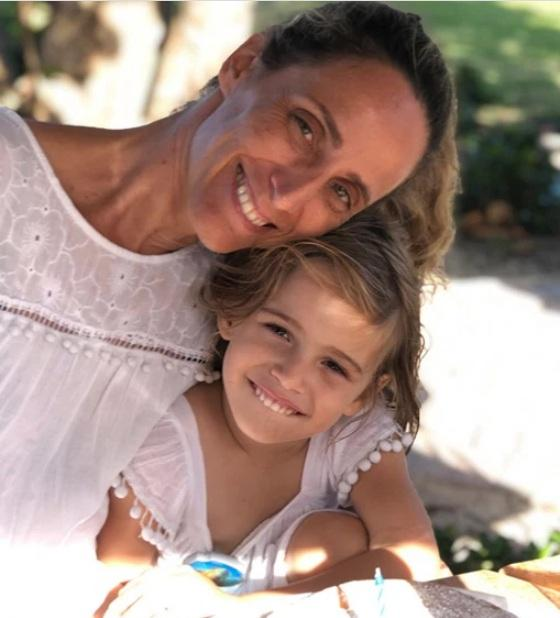 Stella with her mother Graciela