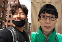 Yoo Jae Suk and  Kim Jong Kook