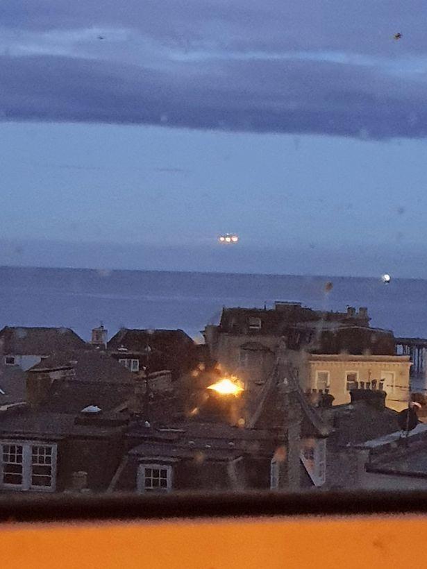 Triangle Shaped UFO Spotted in sea Britain
