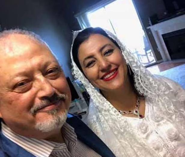 Jamal Khashoggi with Hanan El-Atr