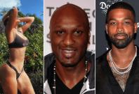 Khloe Kardashian, Lamar Odom and Tristan Thompson