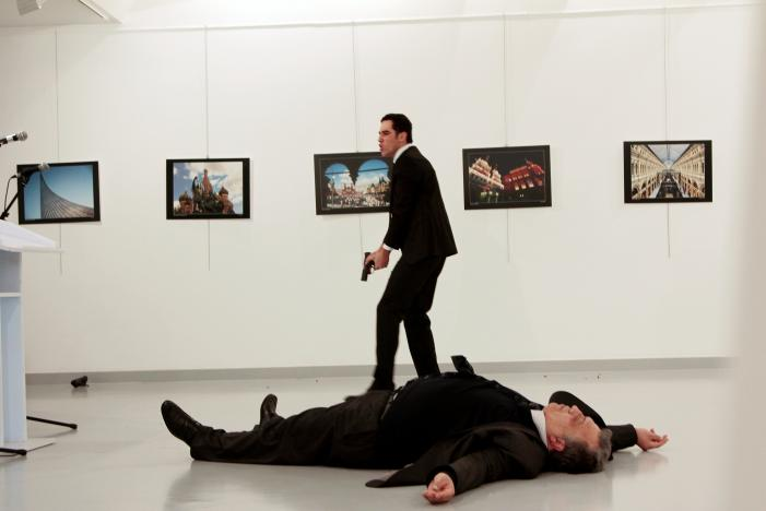 Russia's ambassador to Turkey shot dead by off-duty police officer