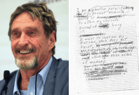 John McAfee suicide note
