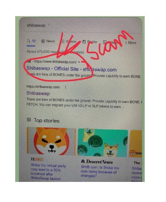 Shiba Inu Fake Scam Website Shiba Swap