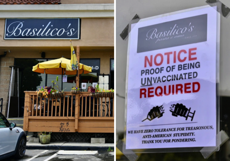 Huntington Beach Restaurant Gets Review-Bombed After Asking Customers to Provide 'Proof of Being Unvaccinated'