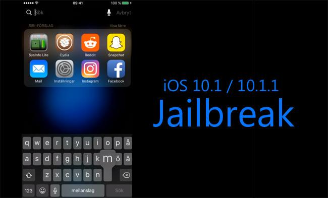 iOS 10.1/10.1.1 jailbreak for iPhone and iPad