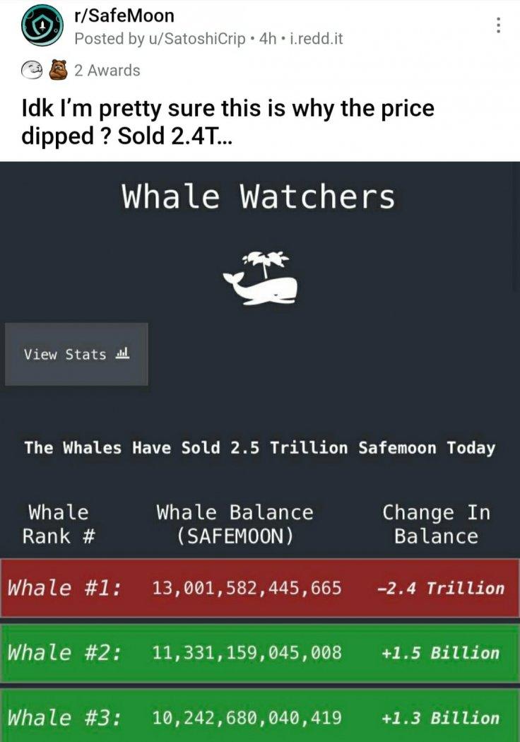 SafeMoon investor dumps 2.4 trillion coins