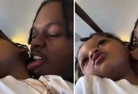 42 Dugg kissing his son