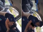 Mexican police officers caught having sex