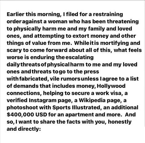 Kinnaman's Instagram post