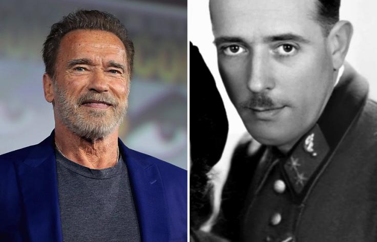 Arnold Schwarzenegger and Gustav Schwarzenegger