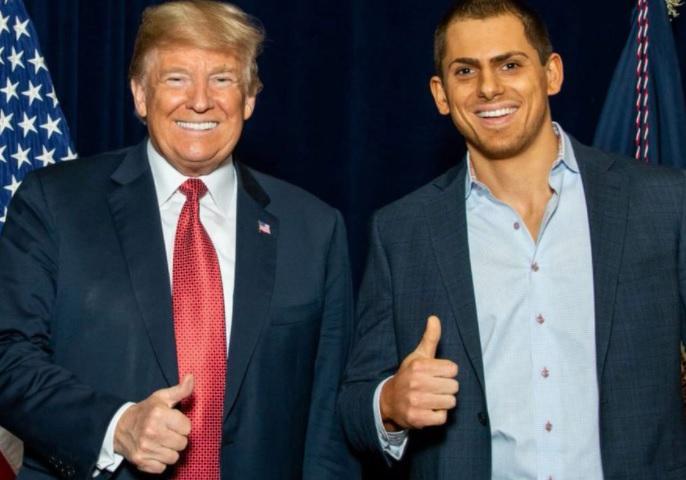 Anton Lazzaro with Donald Trump