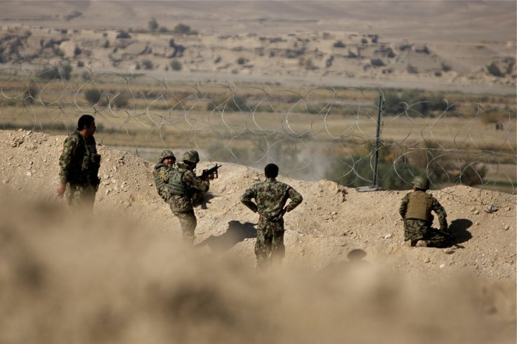 Afghan soldiers taking on Taliban