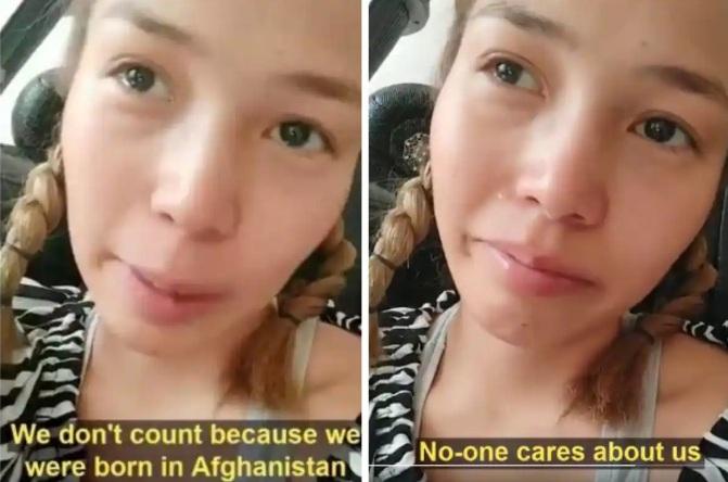Crying Afghan girl
