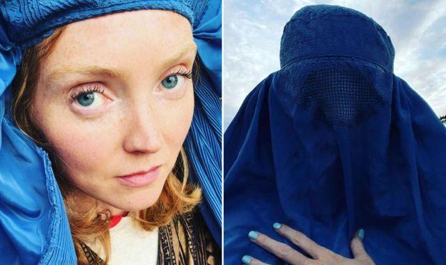 British Model Lily Cole Criticised For Posing In an Afghani Burqa