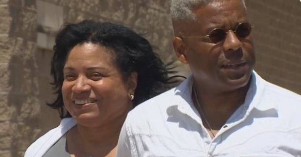 Allen West with his wife Angela Graham-West