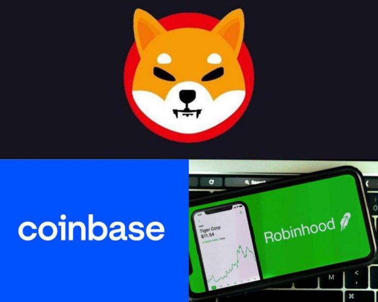 Shiba Inu Robinhood Coinbase Cryptocurrency Listing Coin