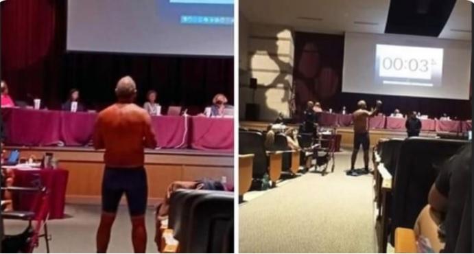 Texas man strips down to underwear
