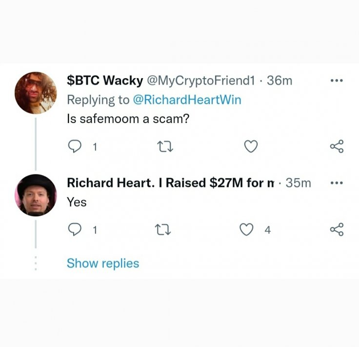 Richard Heart says SafeMoon is a scam