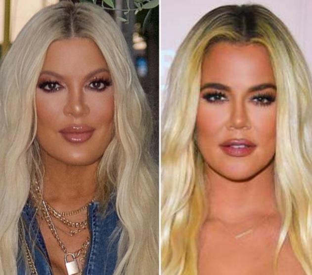 Tori Spelling and Khloe Kardashian