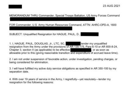 Lt. Col. Paul Douglas Hague