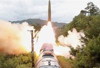 North Korea tests rail-borne missile system