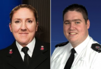 Sgt. Molly Edwards and PC Richard Paton