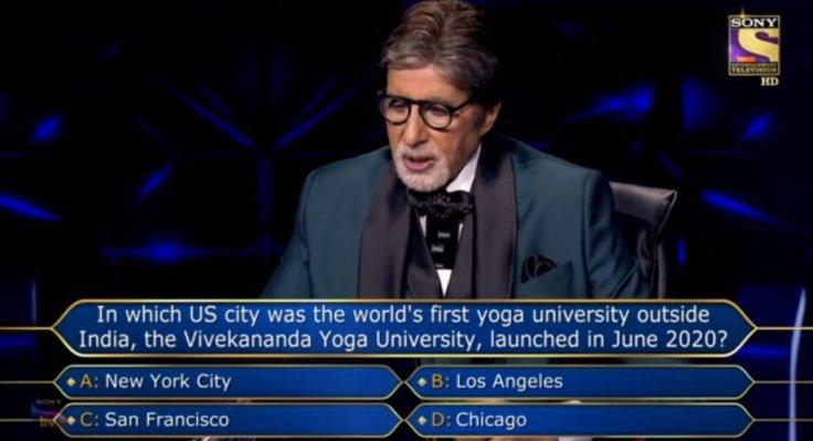 KBC's question on Vivekananda Yoga University