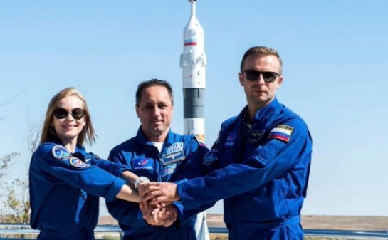Russian spacecraft blasts off to International Space Station