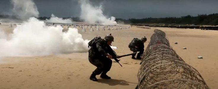 Chinese military conducts beach landing drills near Taiwan