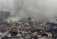 Fire at a Russian gunpowder factory