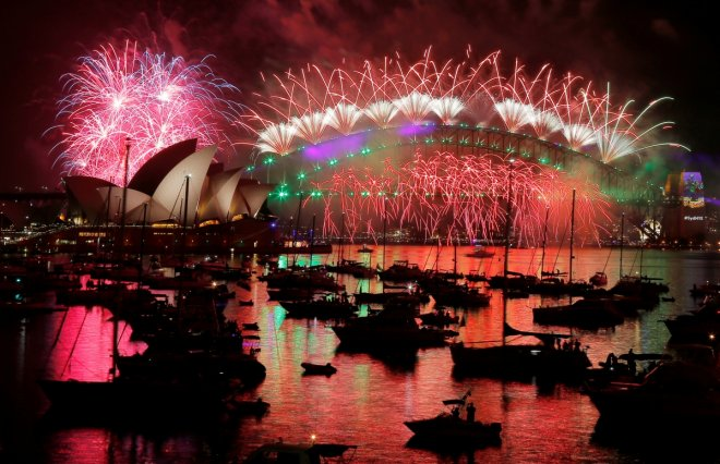 In Pictures: New Year celebrations ring in 2017 around the world