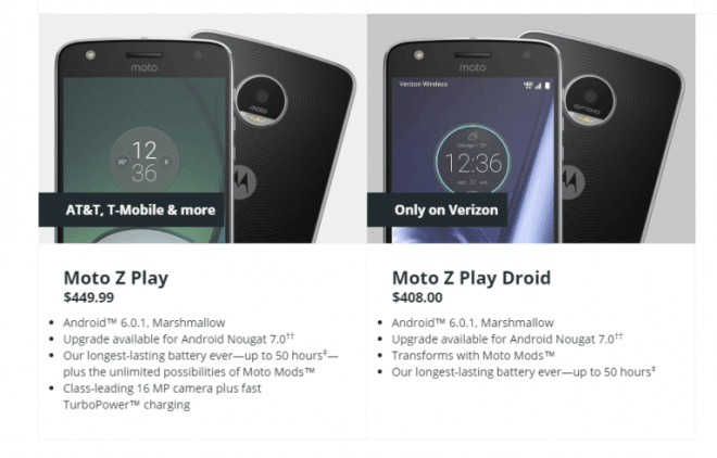 Moto Nougat update