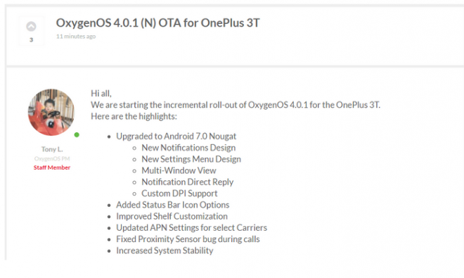 OnePlus 3T receives OxygenOS 4 0 1 Nougat OTA: Manual fix for Play