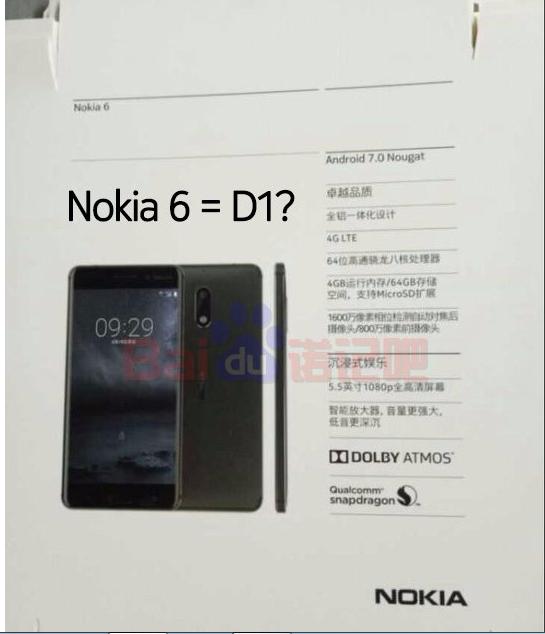 Nokia 6 aka Nokia D1