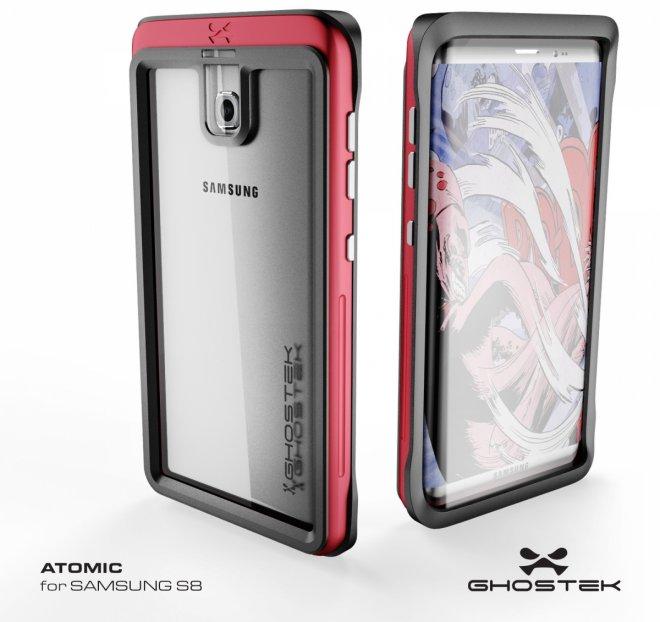 Samsung Galaxy S8 case render from Ghostek