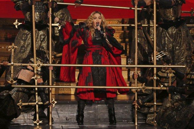 Madonna performing at Rebel Tour Concert