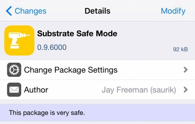 iOS 10.2 Substrate Safe Mode