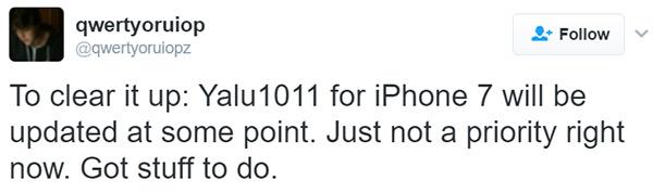 Yalu1011 jailbreak coming soon to iPhone 7/7 Plus
