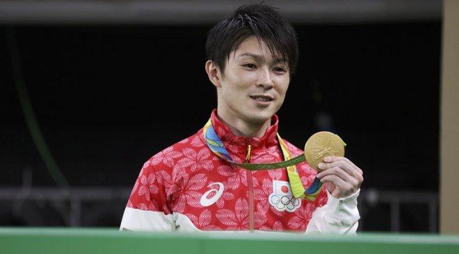 Japanese gymnast Kohei Uchimura