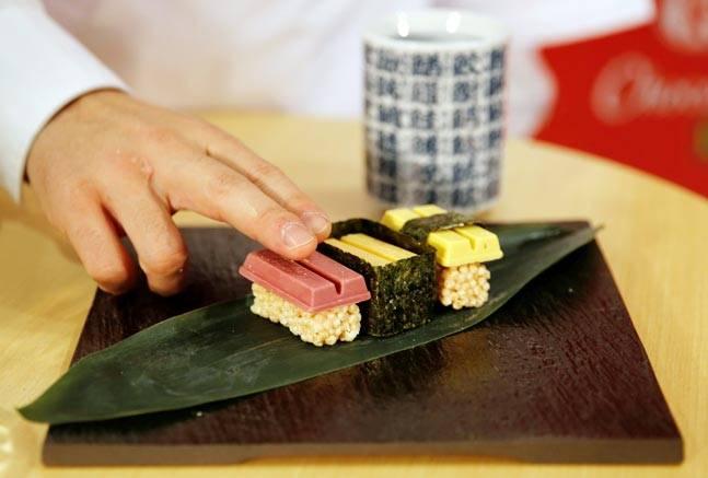 Sushi-shaped Kitkats in Japan