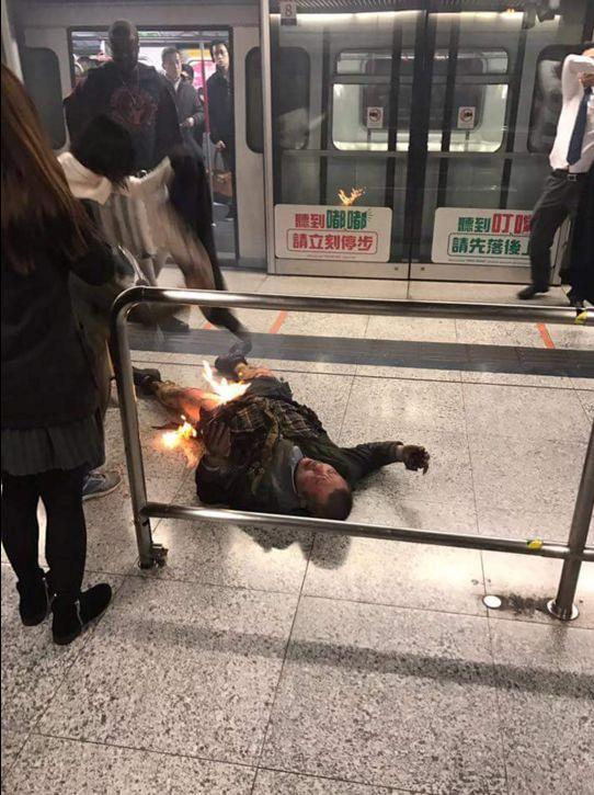 Hong Kong subway firebomb attack injures at least 17; police arrest suspect