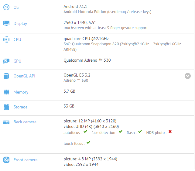 Moto Z spotted running Android 7.1.1 update on Geekbench
