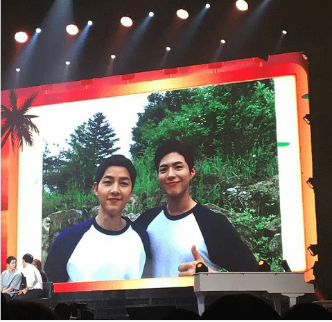 Song Joong Ki and Park Bo Gum in Bangkok fan meet