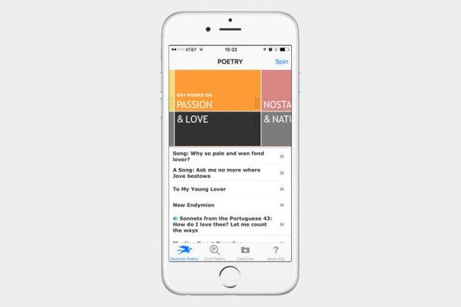 Poetry App from The Poetry Foundation